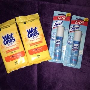 2 Lysol to go and two wet ones